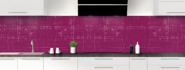 Crédence de cuisine Ardoise rayée couleur prune panoramique