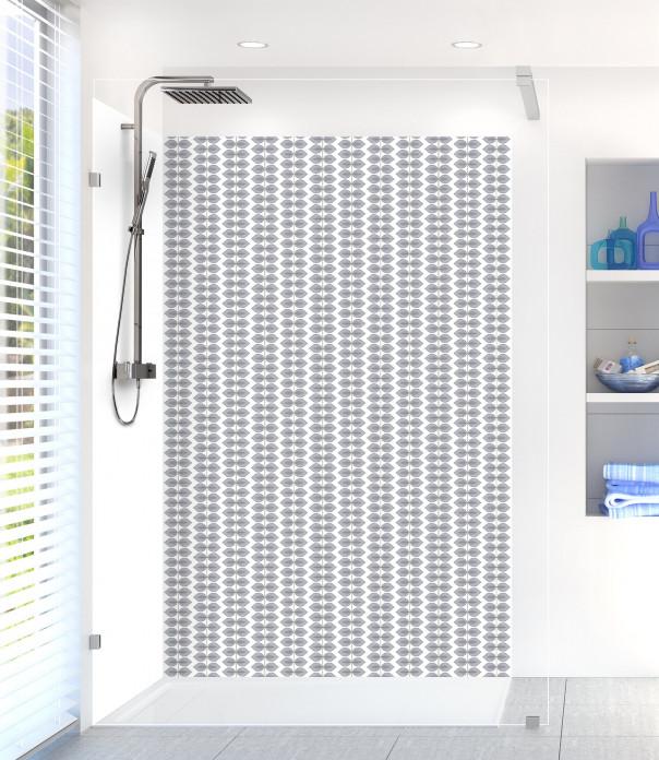 Panneau de douche Petites Feuilles  couleur gris métal