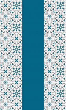 Crédence Carreaux de ciment riad Bleu listel extérieur