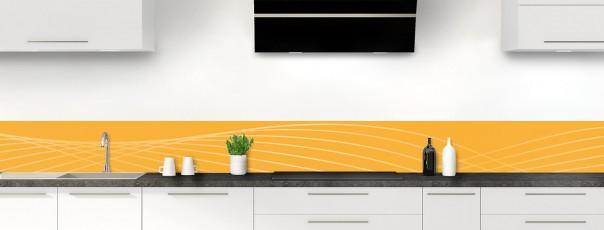 Crédence de cuisine Courbes couleur abricot dosseret motif inversé