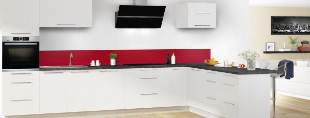 Crédence de cuisine Ombre et lumière couleur rouge carmin dosseret en perspective