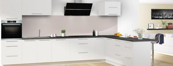 Crédence de cuisine Ombre et lumière couleur argile panoramique motif inversé en perspective