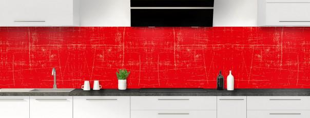 Crédence de cuisine Ardoise rayée couleur rouge vif panoramique
