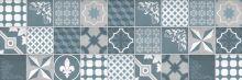 Crédence Carreaux de ciment trendy chic bleu