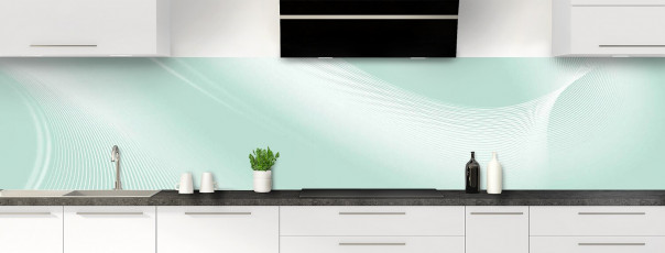 Crédence de cuisine Volute couleur vert pastel panoramique motif inversé