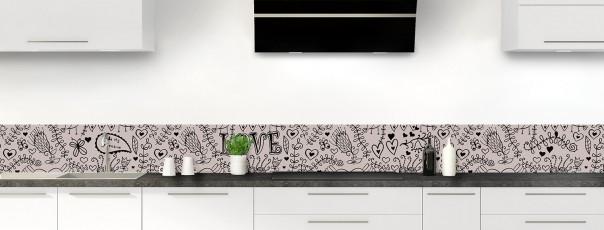 Crédence de cuisine Love illustration couleur argile dosseret