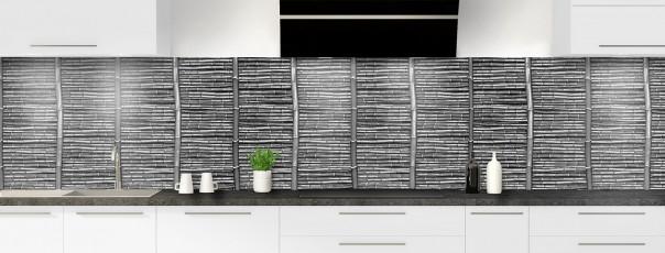 Crédence de cuisine Palissade de bambou noir panoramique