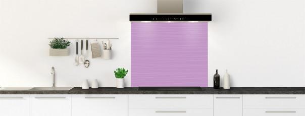 Crédence de cuisine Lignes horizontales couleur parme fond de hotte