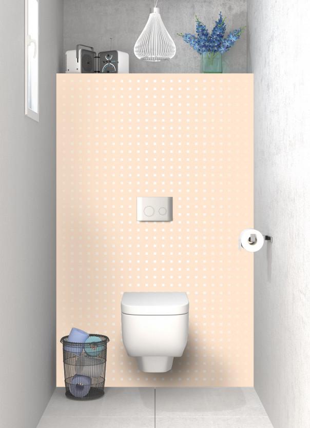 Panneau WC Petits carrés couleur sable