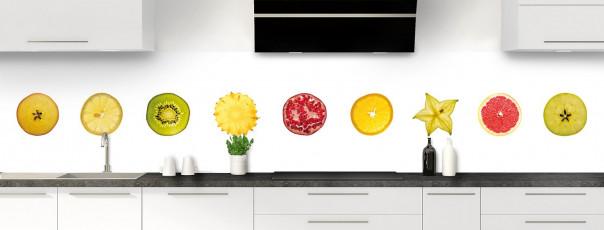 Crédence de cuisine Tranches de fruits panoramique motif inversé