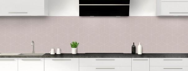 Crédence de cuisine Cubes en relief couleur argile panoramique