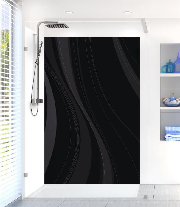 Panneau de douche Voilage couleur noir