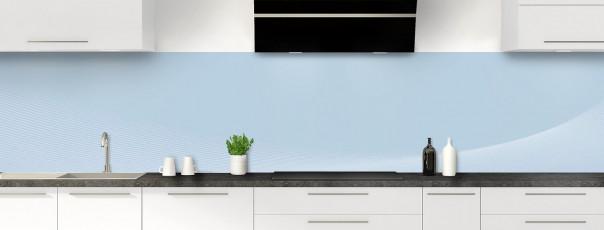 Crédence de cuisine Ombre et lumière couleur bleu azur panoramique motif inversé