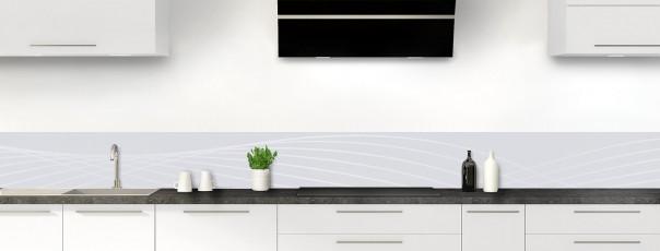 Crédence de cuisine Courbes couleur gris clair dosseret motif inversé