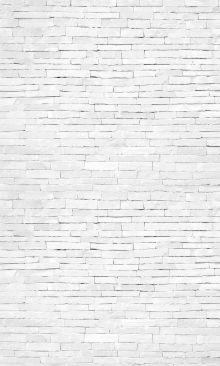 Crédence Briques plates blanches