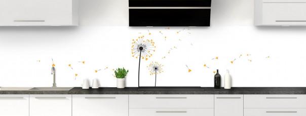 Crédence de cuisine Envol d'amour couleur abricot panoramique motif inversé