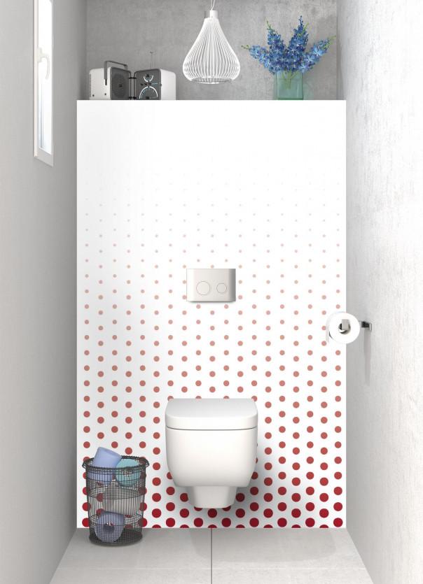 Panneau WC Pluie de points couleur rouge carmin