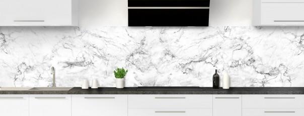 Crédence de cuisine Marbre blanc panoramique
