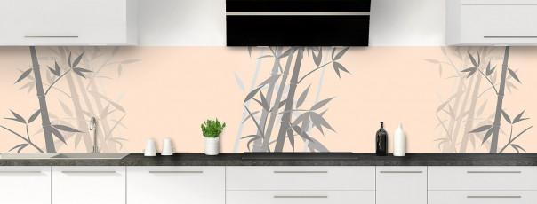 Crédence de cuisine Bambou zen couleur sable panoramique