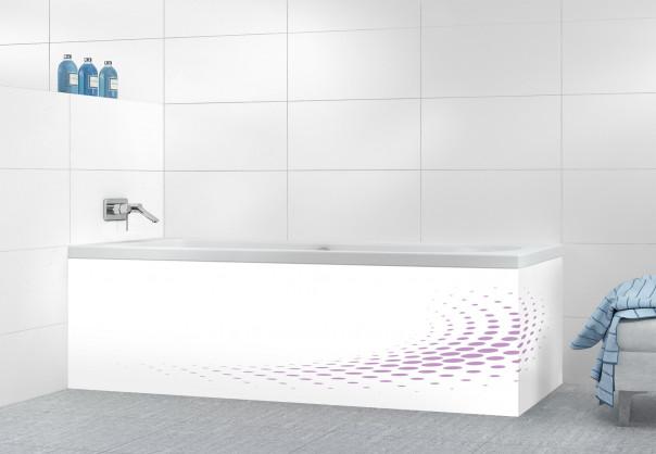Panneau tablier de bain Nuage de points couleur parme