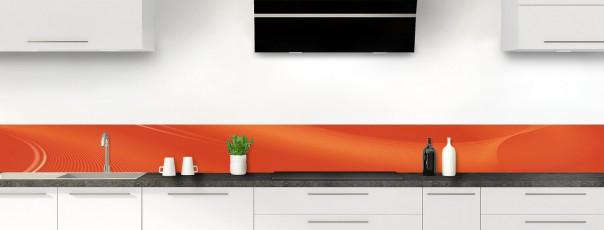 Crédence de cuisine Volute couleur rouge brique dosseret motif inversé