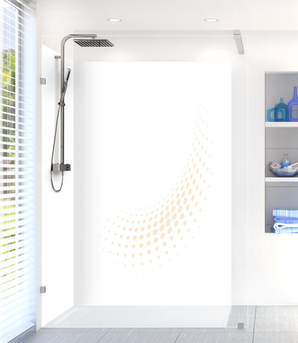 Panneau de douche Nuage de points couleur sable motif inversé