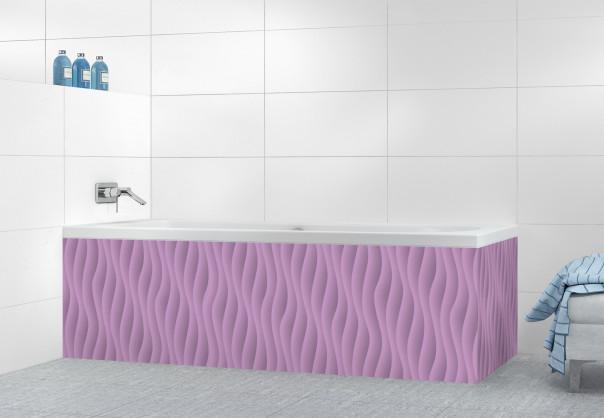 Panneau tablier de bain Ondes couleur parme