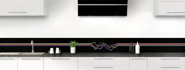 Crédence de cuisine Light painting couleur noir dosseret