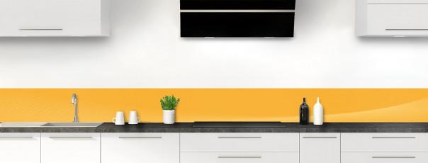 Crédence de cuisine Ombre et lumière couleur abricot dosseret motif inversé
