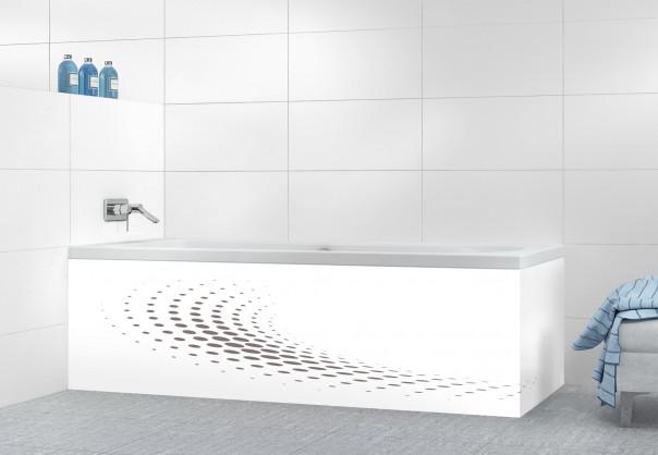 Panneau tablier de bain Nuage de points couleur taupe motif inversé