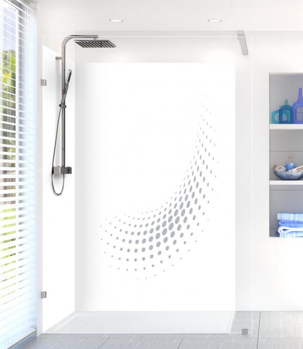 Panneau de douche Nuage de points couleur gris métal motif inversé