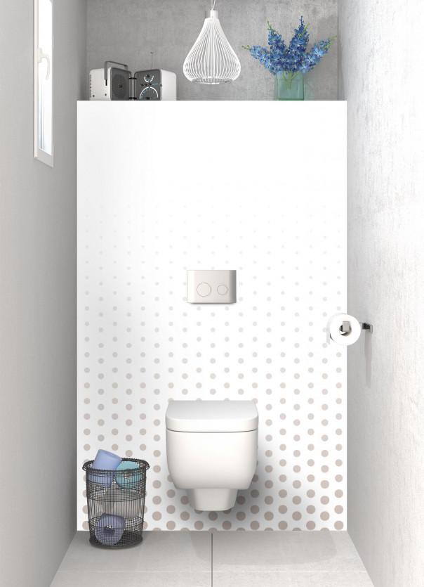 Panneau WC Pluie de points couleur argile