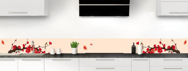 Crédence de cuisine Cerisier japonnais couleur sable dosseret