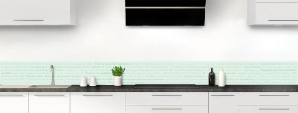 Crédence de cuisine Recettes de cuisine couleur vert eau dosseret