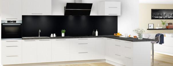 Crédence de cuisine Noir panoramique en perspective