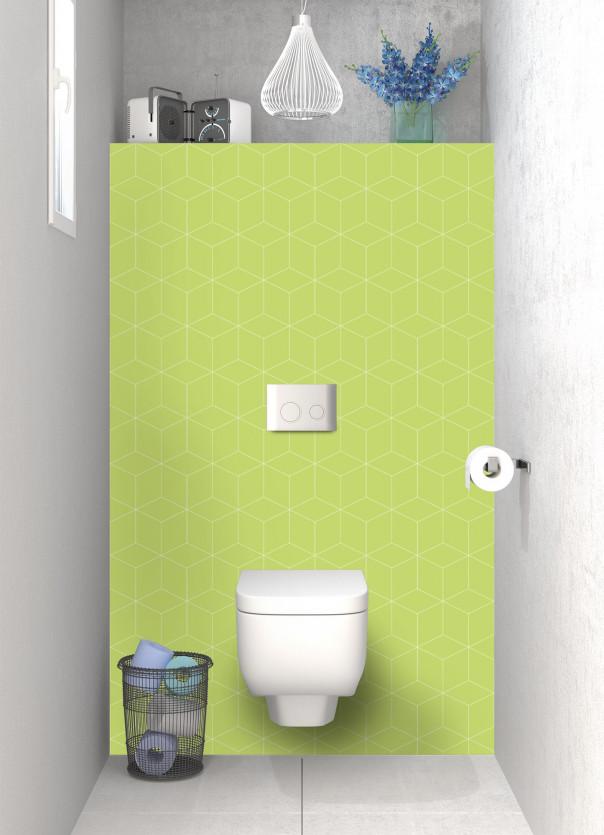 Panneau WC Cubes en relief couleur vert olive