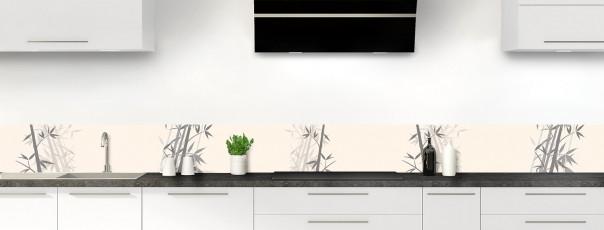 Crédence de cuisine Bambou zen couleur magnolia dosseret