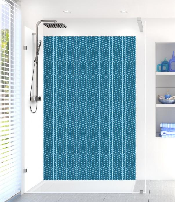 Panneau de douche Origami  couleur bleu baltic