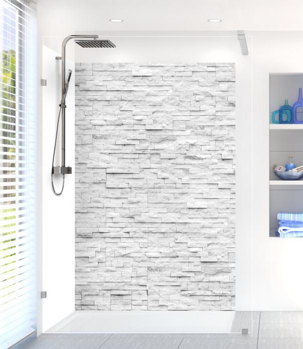 Panneau de douche Pierres gris clair