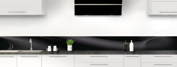 Crédence de cuisine Volute couleur noir dosseret motif inversé