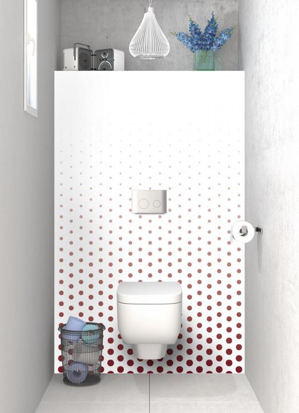 Panneau WC Pluie de points couleur rouge pourpre