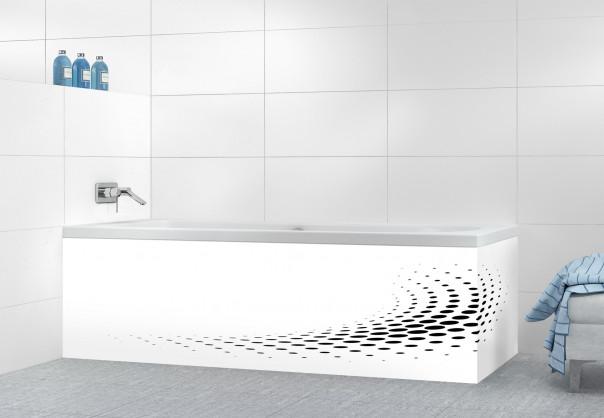 Panneau tablier de bain Nuage de points couleur noir