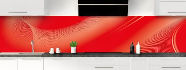 Crédence de cuisine Volute couleur rouge vif panoramique
