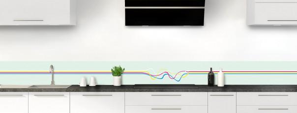 Crédence de cuisine Light painting couleur vert eau dosseret