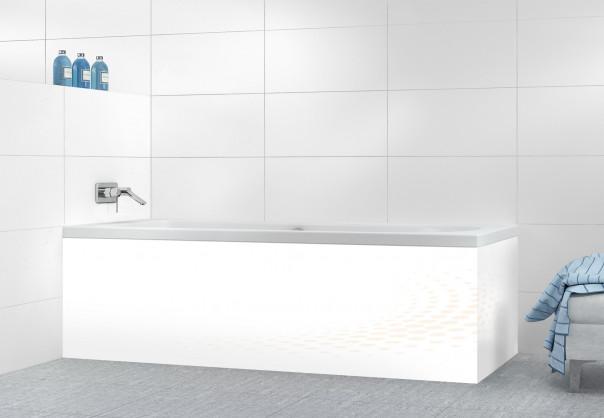 Panneau tablier de bain Nuage de points couleur magnolia