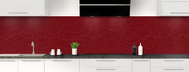 Crédence de cuisine Gribouillis couleur rouge pourpre panoramique