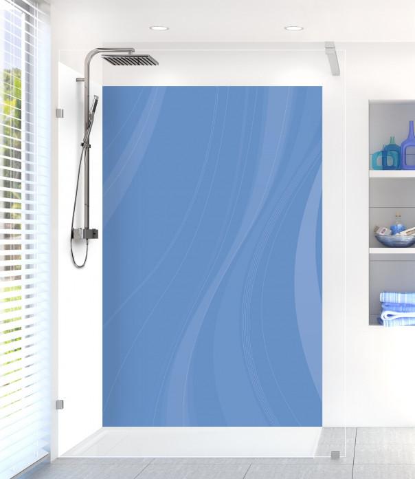 Panneau de douche Voilage couleur bleu lavande motif inversé