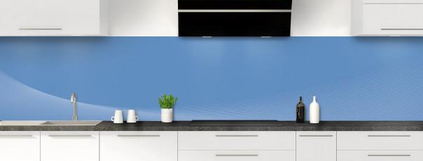Crédence de cuisine Ombre et lumière couleur bleu lavande panoramique