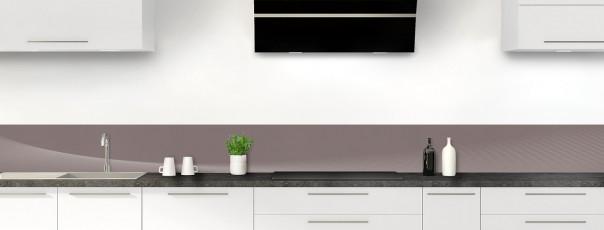 Crédence de cuisine Ombre et lumière couleur taupe dosseret