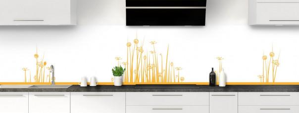 Crédence de cuisine Graminées couleur abricot panoramique